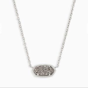 Kendra Scott Necklace Elisa in Platinum Drusy